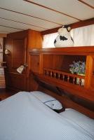 Master cabin bed headboard